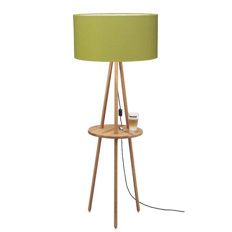 Stehleuchte mit Tisch Filz Grün